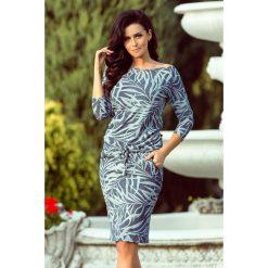 Sukienki: Chantal Sukienka sportowa z wiązaniem - niebieskie JEANSOWE LIŚCIE