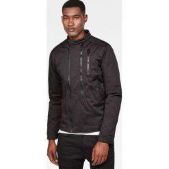 G-Star Raw - Kurtka. Czarne kurtki męskie przejściowe marki G-Star RAW, l, z bawełny, retro. W wyprzedaży za 499,90 zł.