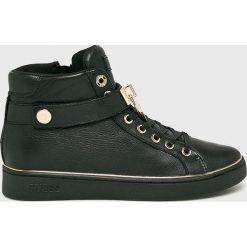 Guess Jeans - Buty Boxing. Czarne buty sportowe damskie Guess Jeans, z aplikacjami, z gumy. Za 579,90 zł.
