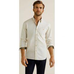 Mango Man - Koszula Pablo. Szare koszule męskie na spinki Mango Man, l, z bawełny, z klasycznym kołnierzykiem, z długim rękawem. W wyprzedaży za 99,90 zł.