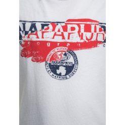 Napapijri SHADOW  Tshirt z nadrukiem bright white. Szare t-shirty męskie z nadrukiem marki Napapijri, l, z materiału, z kapturem. Za 129,00 zł.
