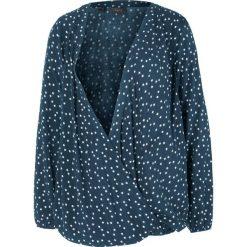 Bluzka ciążowa i do karmienia bonprix ciemnoniebieski z nadrukiem. Czarne bluzki ciążowe marki bonprix, eleganckie. Za 89,99 zł.
