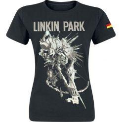 Bluzki asymetryczne: Linkin Park LIP Archer Tour Dated German Colors Koszulka damska czarny