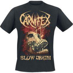 Carnifex Slow Death T-Shirt czarny. Niebieskie t-shirty męskie z nadrukiem marki Reserved, l, z okrągłym kołnierzem. Za 54,90 zł.
