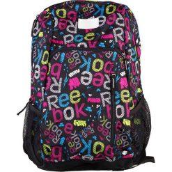 Plecak ze wzorem - (S)34 x (W)48 x (G)17 cm. Czarne plecaki męskie Reebok, z materiału. W wyprzedaży za 99,95 zł.