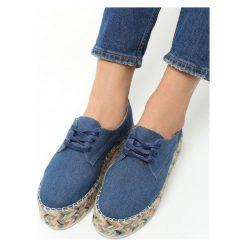 Granatowe Espadryle Quick Kiss. Niebieskie espadryle damskie marki Born2be, z bawełny, na platformie. Za 89,99 zł.