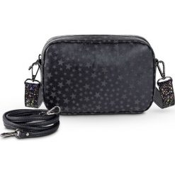 Torebka z 2 paskami na ramię bonprix czarny. Czarne torebki klasyczne damskie bonprix, w paski, zdobione. Za 74,99 zł.
