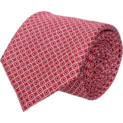 Krawaty męskie: krawat platinum czerwony classic 210