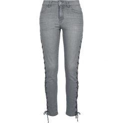 Urban Classics Ladies High Waist Skinny Denim Pants Jeansy damskie szary. Szare jeansy damskie Urban Classics, z denimu, z podwyższonym stanem. Za 79,90 zł.