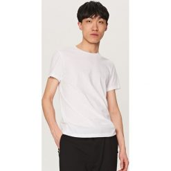 Melanżowy T-shirt BASIC - Biały. Białe t-shirty męskie marki INESIS, m, z bawełny, z długim rękawem. Za 19,99 zł.