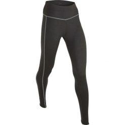 Legginsy sportowe, długie bonprix antracytowy melanż. Zielone legginsy sportowe damskie marki bonprix, w kropki, z kopertowym dekoltem, kopertowe. Za 89,99 zł.