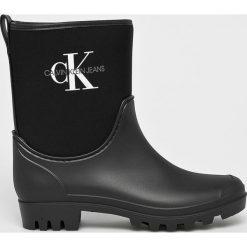 Calvin Klein Jeans - Kalosze . Czarne kalosze damskie marki Calvin Klein Jeans, z gumy. Za 449,90 zł.