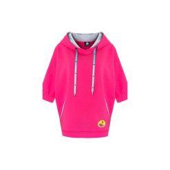 Bluza Ponczo Choka Short Pink. Zielone bluzy damskie marki Soleil, na co dzień, xs, z dekoltem w łódkę, dopasowane. Za 189,00 zł.