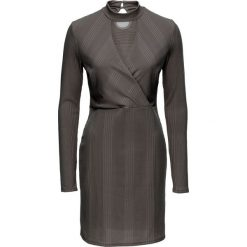 """Sukienki: Sukienka z dżerseju z opaską """"choker"""" bonprix dymny szary"""