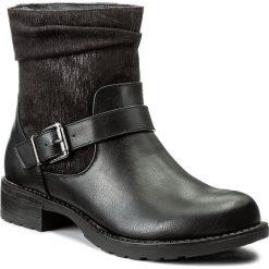 Botki JENNY FAIRY - LS4293-01 Czarny. Czarne buty zimowe damskie Jenny Fairy, z materiału, na obcasie. W wyprzedaży za 60,00 zł.