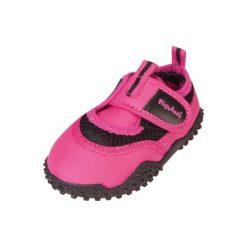 Playshoes  Buty do wody neonpink - różowy - Gr.Moda (6 - 24 miesięcy ). Czerwone buciki niemowlęce marki Playshoes, z materiału. Za 59,00 zł.