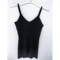 Jedwabny top w kolorze czarnym. Czarne topy damskie marki Ateliers de la Maille, z jedwabiu. W wyprzedaży za 90,95 zł.