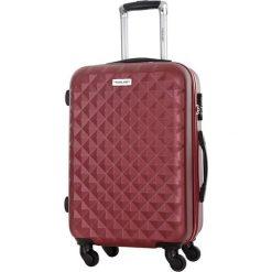 Walizka w kolorze bordowym - 85 l. Brązowe walizki marki Travel One, z materiału. W wyprzedaży za 269,95 zł.