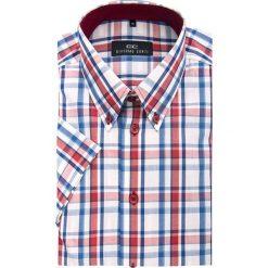 Koszula SERGIO slim 13-02-07. Szare koszule męskie slim Giacomo Conti, na lato, m, z bawełny, button down, z krótkim rękawem. Za 199,00 zł.