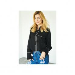 Koszula Hilary. Czarne koszule jeansowe damskie marki Kelly couronne, l, biznesowe, z klasycznym kołnierzykiem. Za 139,00 zł.
