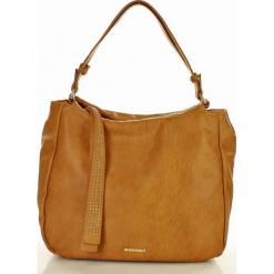 MONNARI Wielozadaniowa torebka miejska musztarowy. Pomarańczowe torebki klasyczne damskie Monnari, w paski, ze skóry. Za 169,00 zł.