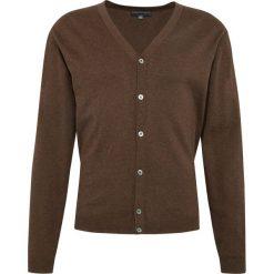 Finshley & Harding - Sweter męski – Pima-Cotton/Kaszmir, brązowy. Czarne swetry rozpinane męskie marki Finshley & Harding, w kratkę. Za 259,95 zł.
