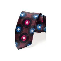 Krawat męski WINYLE BORDO. Niebieskie krawaty męskie HisOutfit, z materiału. Za 129,00 zł.