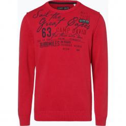 Camp David - Sweter męski, czerwony. Czerwone swetry klasyczne męskie Camp David, m, z aplikacjami, z bawełny. Za 449,95 zł.