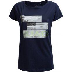 T-shirt damski TSD627 - granatowy - Outhorn. Niebieskie t-shirty damskie Outhorn, z nadrukiem, z bawełny. W wyprzedaży za 24,99 zł.