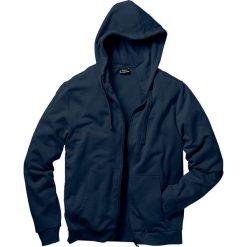 Bluza rozpinana z kapturem Regular Fit bonprix ciemnoniebieski. Niebieskie bejsbolówki męskie bonprix, l, z dresówki, z kapturem. Za 79,99 zł.