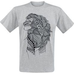 T-shirty męskie z nadrukiem: The Lion King Inked T-Shirt odcienie szarego