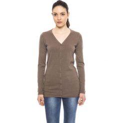 Swetry damskie: Kardigan w kolorze brązowym