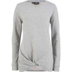Bluza z przewiązaniem bonprix jasnoszary melanż. Szare bluzy damskie bonprix, melanż. Za 49,99 zł.