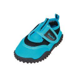 Playshoes  Buty do wody neonblue - niebieski - Gr.Moda (6 - 24 miesięcy ). Niebieskie buciki niemowlęce marki Playshoes, z materiału. Za 59,00 zł.