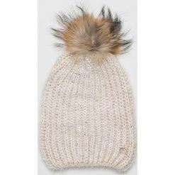 Liu Jo - Czapka zimowa. Szare czapki zimowe damskie Liu Jo, z dzianiny. Za 199,90 zł.