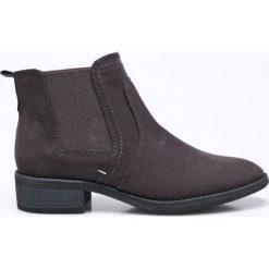 Jana - Botki. Czarne buty zimowe damskie Jana, z materiału, z okrągłym noskiem, na obcasie. W wyprzedaży za 129,90 zł.