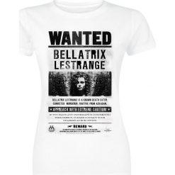 Bluzki asymetryczne: Harry Potter Wanted Bellatrix Koszulka damska biały