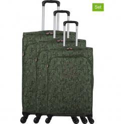 """Walizki (3 szt.) """"Lulu Cactus"""" w kolorze khaki. Brązowe walizki marki Lulu Castagnette, z materiału. W wyprzedaży za 673,95 zł."""