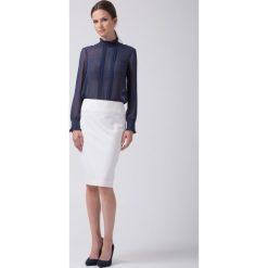 Spódnice wieczorowe: Klasyczna spódnica w kolorze ecru BIALCON