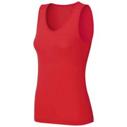 Bluzki sportowe damskie: Odlo Koszulka damska Singlet v-neck Evolution X-LIGHT czerwona r. S (182051)