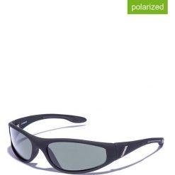 Okulary przeciwsłoneczne męskie lustrzane: Okulary męskie w kolorze czarno-zielonym