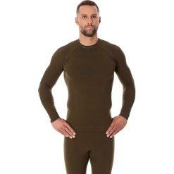 Bluzy męskie: Brubeck Bluza męska Thermo z długim rękawem khaki r. S (LS13040)