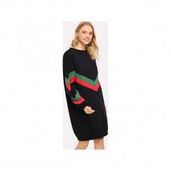 Długa bluza damska z szewronek i zamkami z boku. Czarne bluzy rozpinane damskie Bien fashion, l, z poliesteru, z długim rękawem, długie. Za 139,00 zł.