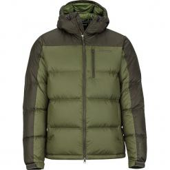 """Kurtka puchowa """"Guides Down"""" w kolorze oliwkowym. Brązowe kurtki męskie puchowe marki Marmot, m, z materiału. W wyprzedaży za 477,95 zł."""