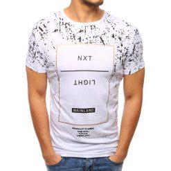 T-shirty męskie z nadrukiem: T-shirt męski z nadrukiem biały (rx2804)