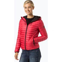 Superdry - Damska kurtka puchowa, czerwony. Szare kurtki damskie pikowane marki Superdry, l, z nadrukiem, z bawełny, z okrągłym kołnierzem. Za 499,95 zł.