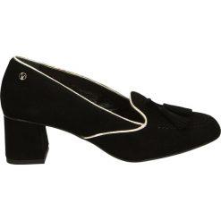 Czółenka - 1626O CAM NER. Czarne buty ślubne damskie Venezia, ze skóry. Za 189,00 zł.