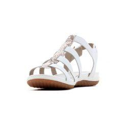 Sandały Geox  D Sand.Vega A - Nappa D72R6A 00085 C0813. Białe sandały damskie Geox. Za 268,10 zł.