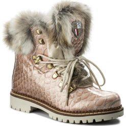 Botki NEW ITALIA SHOES - 1515404A/54 Pink. Czerwone buty zimowe damskie New Italia Shoes, z lakierowanej skóry, na obcasie. W wyprzedaży za 869,00 zł.