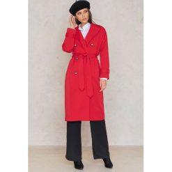 Płaszcze damskie: Trendyol Płaszcz dwurzędowy z paskiem – Red